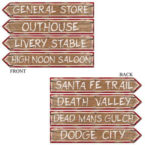 "CUTOUT - WESTERN SIGNS 24""X 4""          4 CT/PKG"