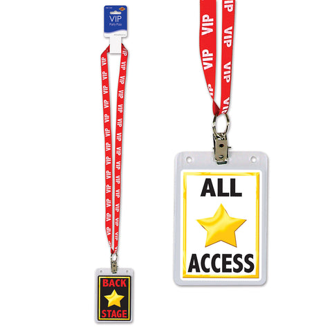 BACK STAGE VIP PASS LANYARD