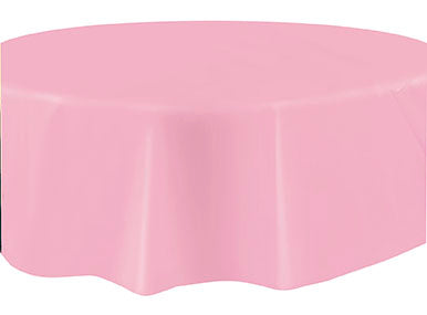 "LIGHT PINK 84"" ROUND TABLE COVER"