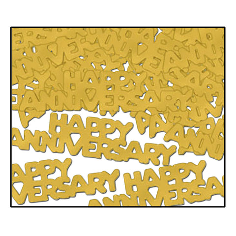 CONFETTI - GOLD HAPPY ANNIVERSARY   1/2 OZ