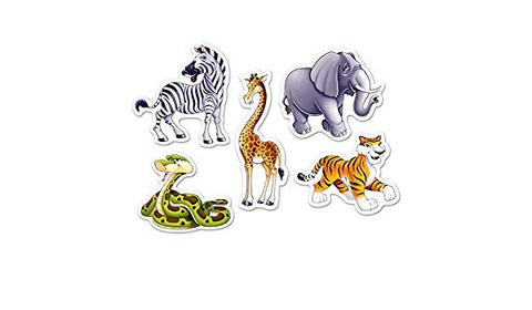 MINI JUNGLE ANIMAL CUTOUTS  10CT
