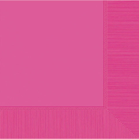 DINNER NAPKINS - BRIGHT PINK     20 COUNT