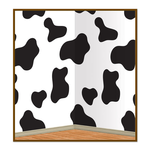 "COW PRINT WALL DECORE 48"" X 30'"