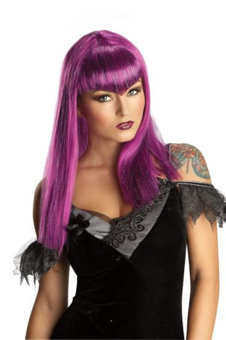 GLITTER VAMP PURPLE WIG - ADULT