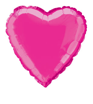 "MYLAR BALLOON - HOT PINK HEART     18"" FOIL"