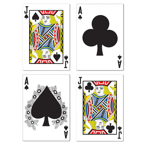 BLACKJACK CARD CUTOUTS