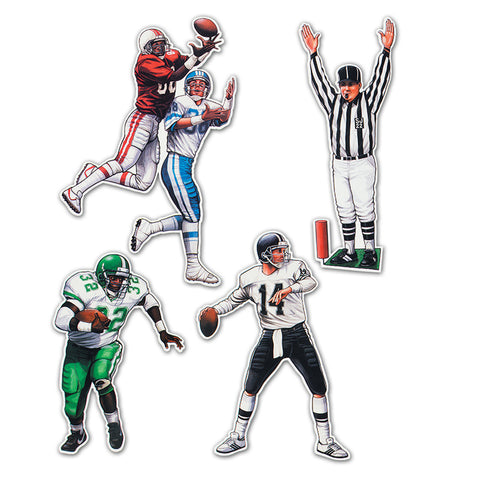 "CUTOUT - FOOTBALL FIGURE 20"", 4 PCS."
