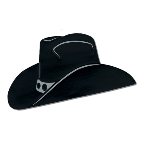 BLACK COWBOY HAT CUTOUT EACH