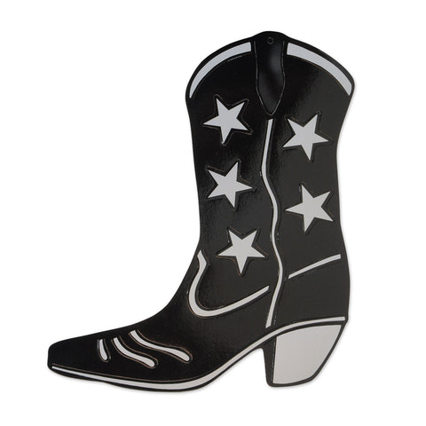 BLACK COWBOY BOOT CUTOUT EACH