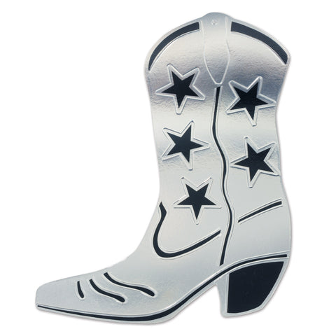 SILVER COWBOY BOOT CUTOUT EACH