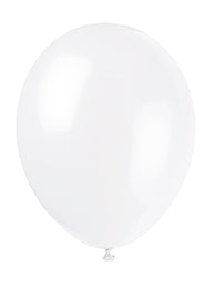 "PREMIUM LATEX BALLOON WHITE 12""  50PCS/PKG"