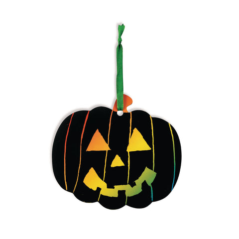 HALLOWEEN PUMPKIN SCRATCH CRAFT KIT