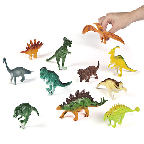 DINOSAUR - LARGE DYNAMITE PVC  ASSORTED   12 CT/PK