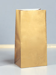 GOLD PAPER PARTY BAGS 10PCS/PKG