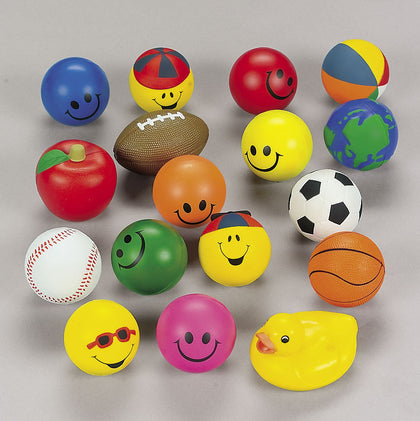 STRESS BALL ASSORTMENT 25PCS/UNIT