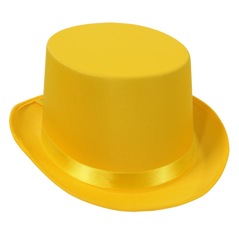 HAT - YELLOW SATIN SLEEK