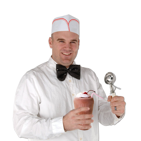 SODA JERK WHITE/RED HATS