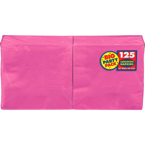 NAPKIN - HOT BRIGHT PINK 125 CT/PKG       LUNCHEON