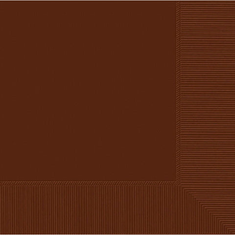 LUNCHEON NAPKINS - CHOCOLATE BROWN     50 CT/PKG
