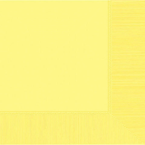 LUNCHEON NAPKINS - LIGHT YELLOW       50 CT/PKG