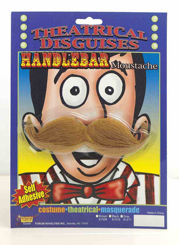 HANDLEBAR MUSTACHE - BROWN