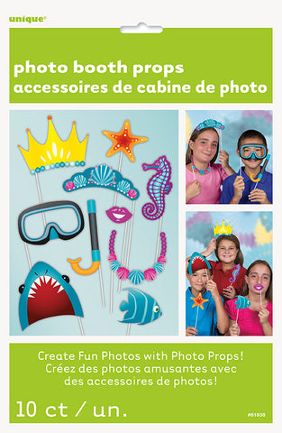 UNDER THE SEA PHOTO PROPS                 10 CT/PK