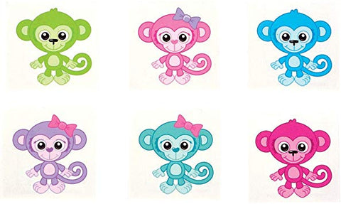 Cute Monkey Temporary Tattoos