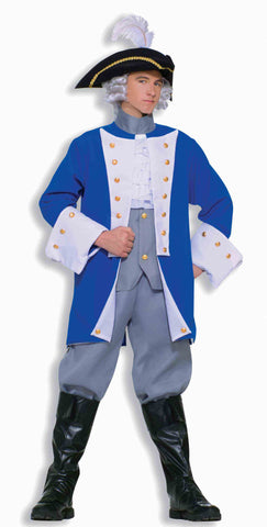 COLONIAL GENERAL COSTUME - ADULT STANDARD