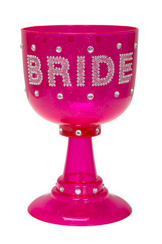 BRIDE HOT PINK GOBLET W/ BLONG          EACH