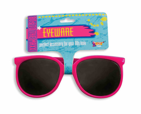 SUNGLASSES - PINK FRAME 80'S TO THE MAX