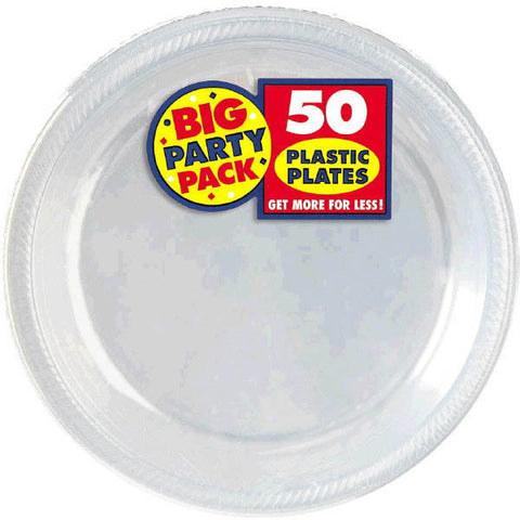 PLSTC PLATE CLEAR 50PC 7""