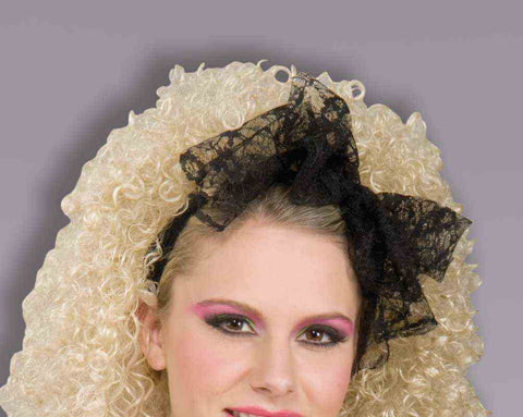 BLACK LACE HAIR SCARF 1PC/PKG
