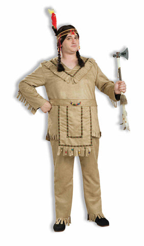 NATIVE AMERICAN BRAVE COSTUME - ADULT PLUS SIZE