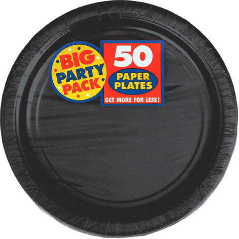 "PAPER PLATE BLACK 7"" 50CT"