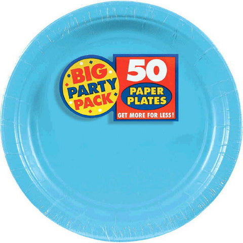 "PAPER PLATE C.BLUE 7"" 50 CT"