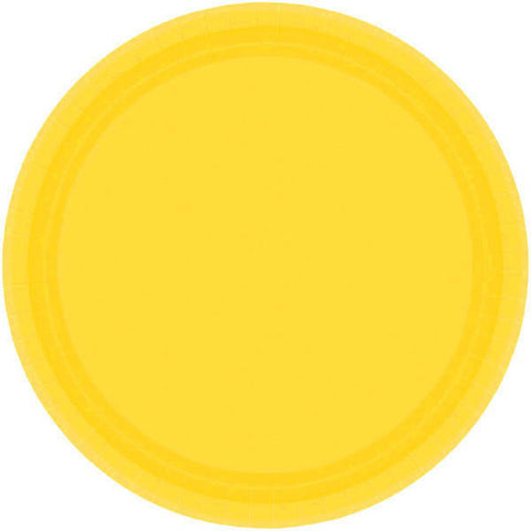 "PAPER PLATE YELLOW SUNSHINE 7""   20CNT"