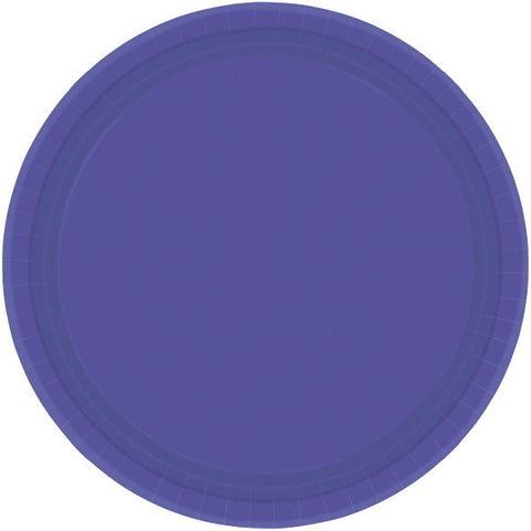 "PAPER PLATE NEW PURPLE  7""  20CNT"