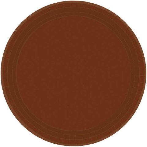 "PAPER PLATE BROWN 7""     20CT"