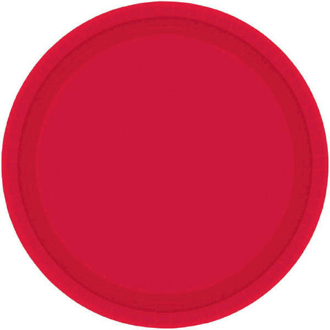 "PAPER PLATE RED 7""   20CNT"