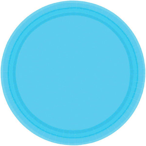 "PAPER PLATE CARRIBBEAN BLUE  7""   20CNT"
