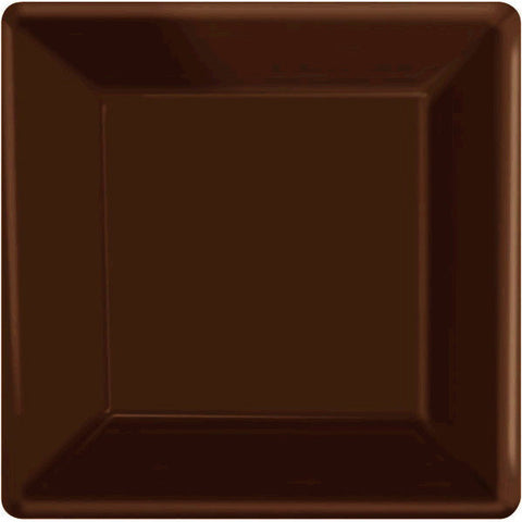 PLATE - CHOCOLATE BROWN