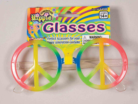 GLASSES - RAINBOW PEACE HIPPIE               EACH