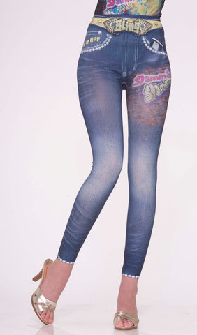 Hip Hop Jean Leggings - Adult
