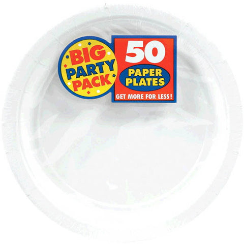 PAPER PLATE WHITE 9 inches inches 50CT