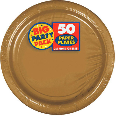 PAPER PLATE GOLD 9 inches inches 50CNT
