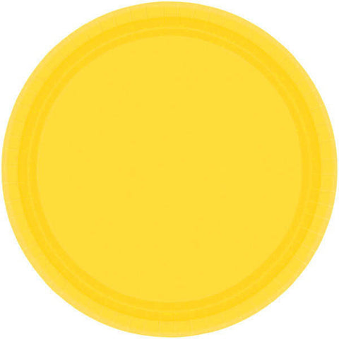 "PAPER PLATE YELLOW SUNSHINE   9""    20CNT"