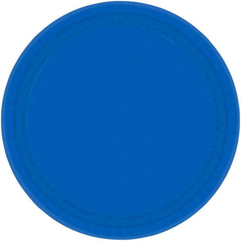 "PAPER PLATE ROYAL BLUE   9""    20CNT"
