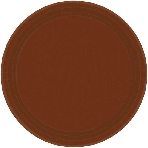"PAPER PLATE BROWN 9""    20CNT"