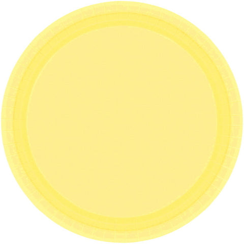"PAPER PLATE LIGHT YELLOW   9""    20CNT"
