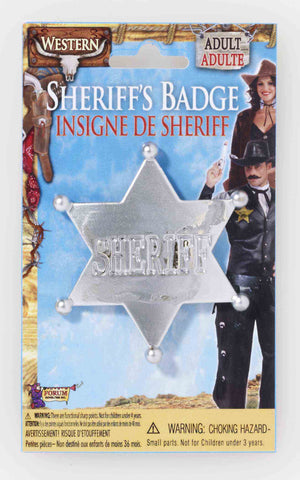 WILD WEST SHERIFF BADGE